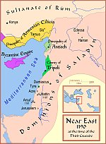The Near East in 1190, before Richard's conquest of Cyprus