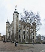 Norman White Tower at the center of the Tower of London